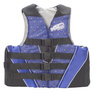 X2O 4 Buckle Hidden Life Vest Blue